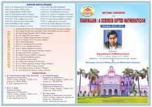 "National Conference on ""Ramanujan: A Goddess Gifted Mathematician"", during October, 30-31, 2017."